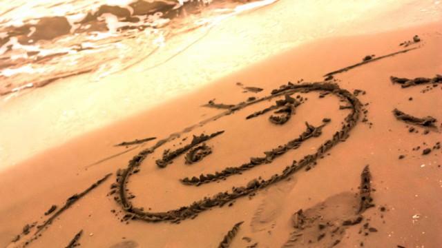 Sonne im Sand